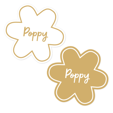 Stick-on Pet Name labels - Shaped