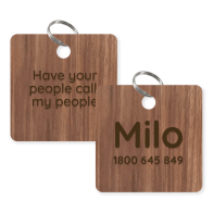 Wooden Pet Name Tag