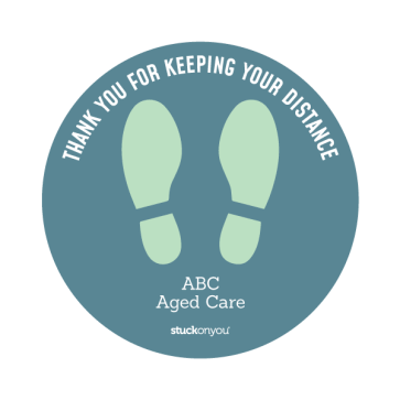 Aged Care Safe Spot Floor Stickers