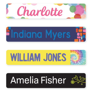 Iron On Labels - Pattern Large