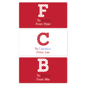 Monogram Gift Labels - Rectangle