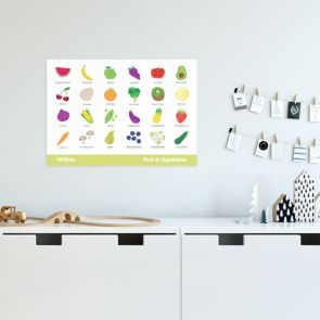 Educational Wall Poster - Fruit And Vegetables
