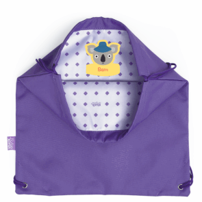 Book Bag Purple - Inside Personalisation