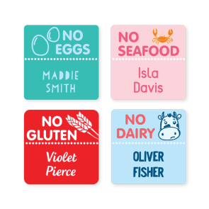 Name Labels - Allergy Square