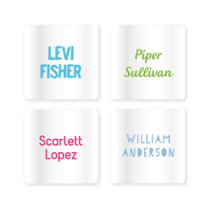 Name Labels - Clear Square