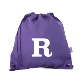 Monogram Book Bag - Purple