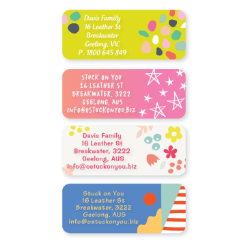 Name Labels - Pattern Custom Text