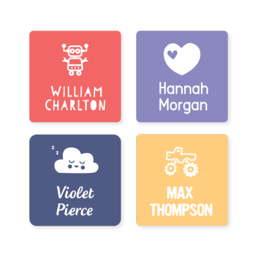Name Labels - Classic Square