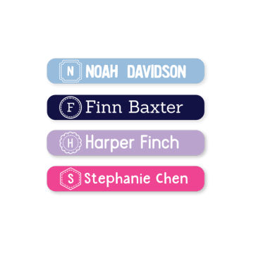 Name Labels - Monogram Mini