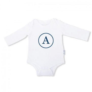 Baby Onesie Monogram - Long Sleeve (Size 1)