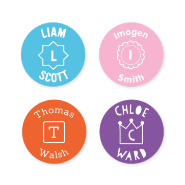 Iron On Labels - Monogram Round