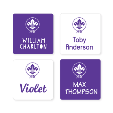 Scout Iron On Labels - Square