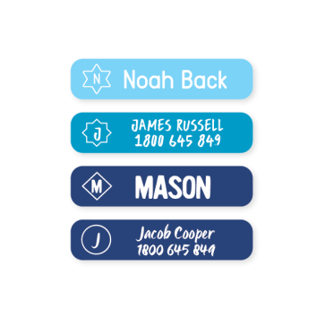 Multi Use Labels - Monogram Small