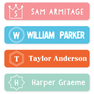Name Labels - Monogram Large
