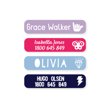 Stick On Clothing Labels - Classic Small