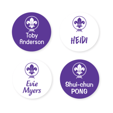 Scout Name Labels - Round