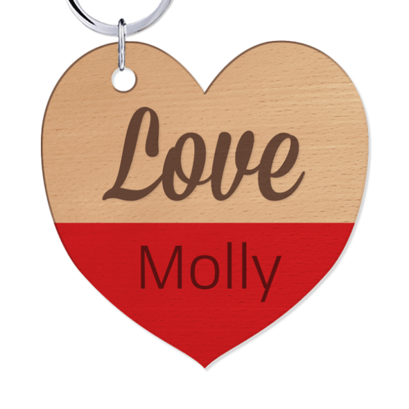 Mother's Day - Wood Key Ring