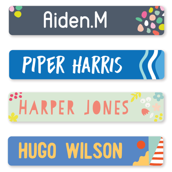 Name Labels - Pattern Large