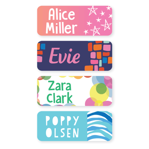 Name Labels - Pattern Medium
