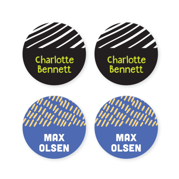 Name Labels - Pattern Round