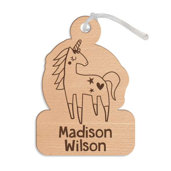 Designer Bag Tag - Wood