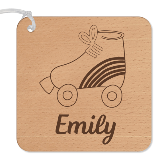 Designer Bag Tag Basic - Wood