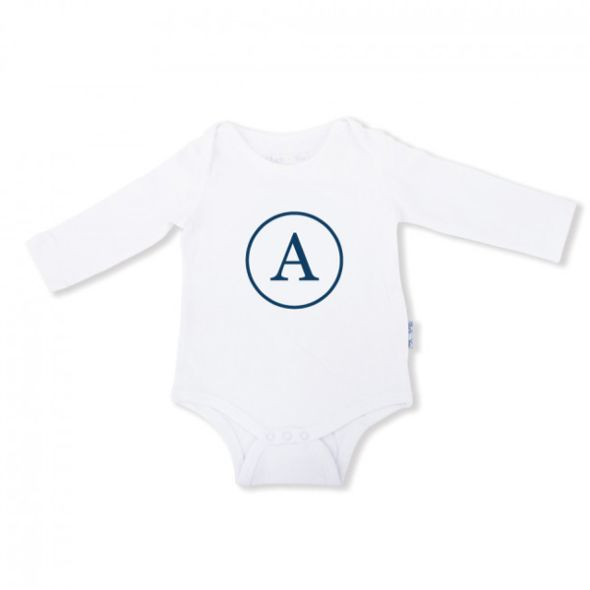 Baby Onesie Monogram - Long Sleeve