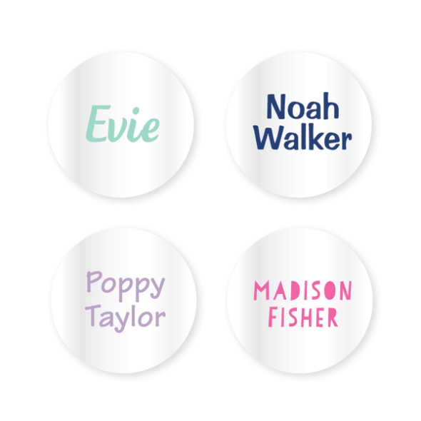 Name Labels - Clear Round