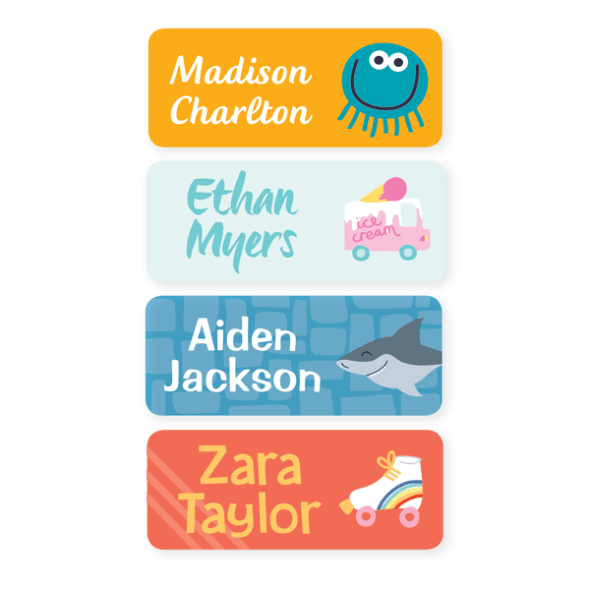 Name Labels - Designer Medium