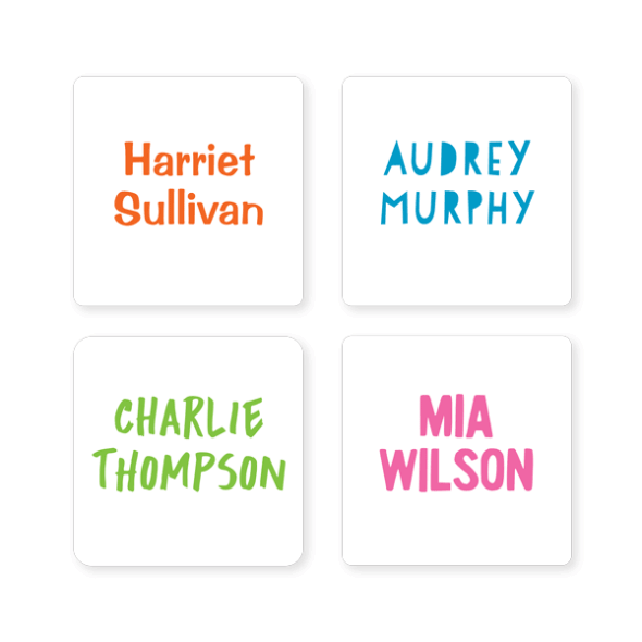 Name Labels - Basic Square