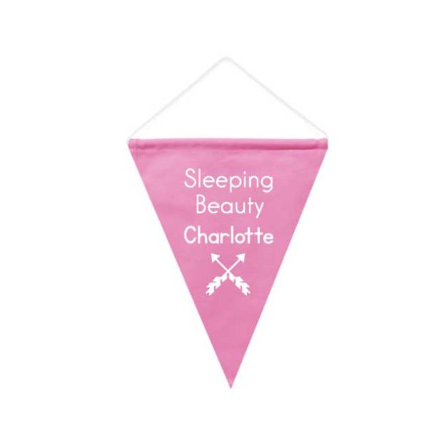 Wall Flag Pink- Triangle
