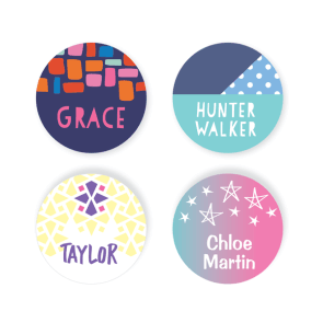 Iron On Labels - Pattern Round