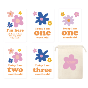 Welcome Baby Milestone Cards