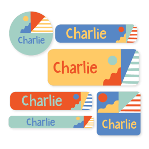 Name Labels - Pattern Mixed