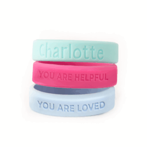Silicone Wrist Bands - Positivity
