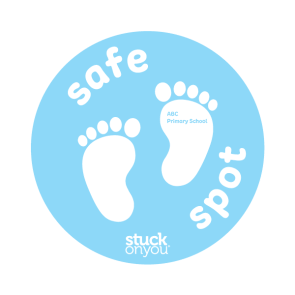 Pastel Safe Spot Floor Stickers