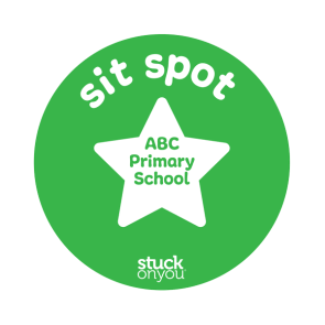 Bright Sit Spot Floor Stickers