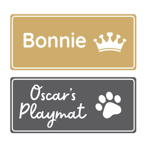 Iron-On Pet Name Labels - Large