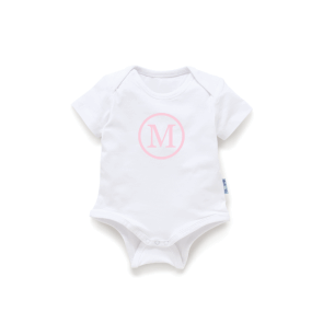 Baby Onesie Monogram - Short Sleeve