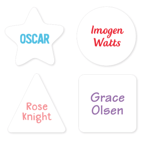Name Labels - Basic Geometric