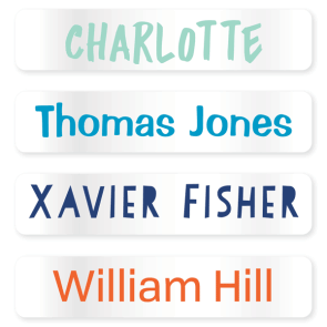 Name Labels - Clear Large