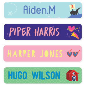 Name Labels - Designer Large