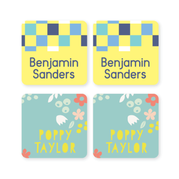 Name Labels - Pattern Square