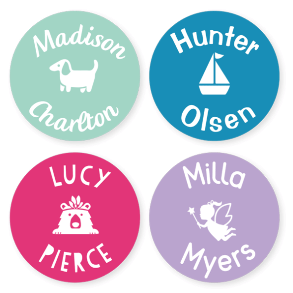 Multi Use Labels - Classic Large Round