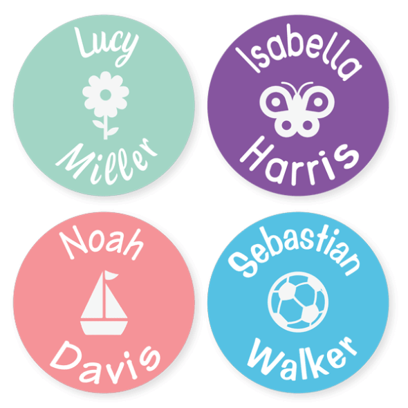 Name Labels - Classic Large Round