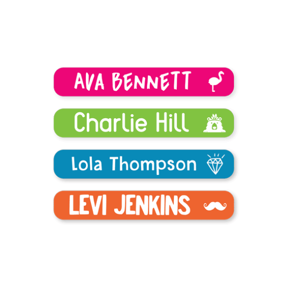 Personalised Labels For Nursery Stuck