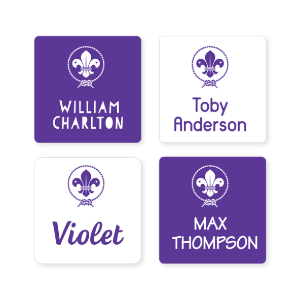 Scout Name Labels - Square