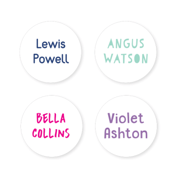 Name Labels - Basic Round