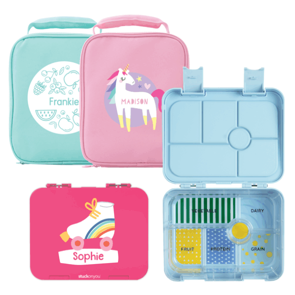Double Bento Box & Bag - Fun Designs