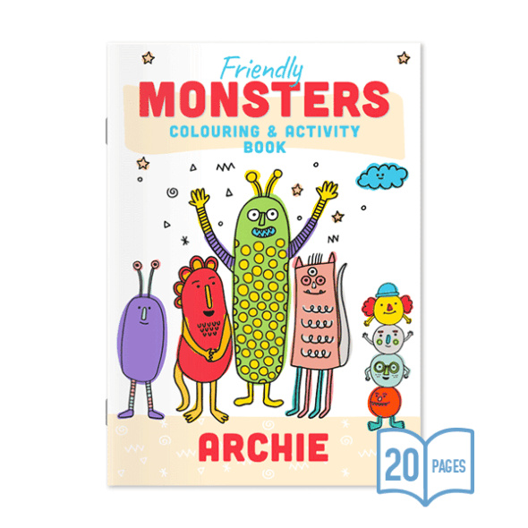 Colouring Book - Friendly Monsters